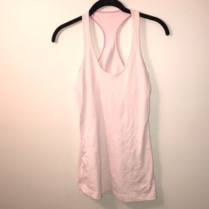 lululemon light pink razor back tank top size 6